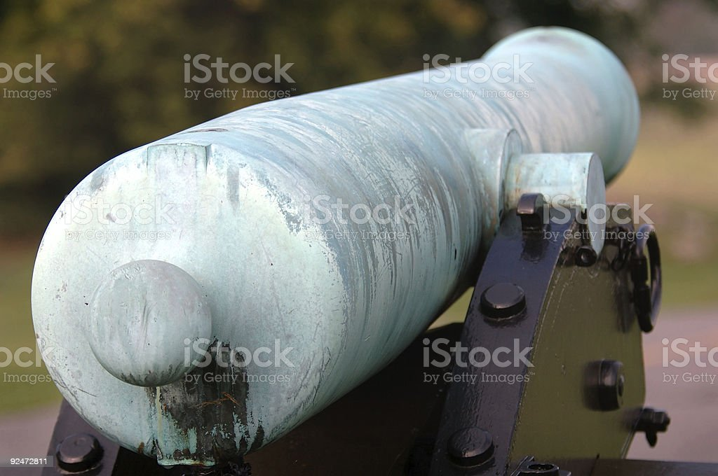 Back of Civil War Cannon royalty-free stock photo