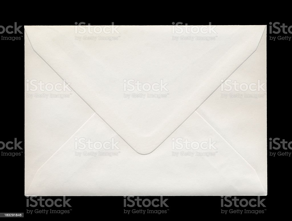 Back of closed envelope royalty-free stock photo