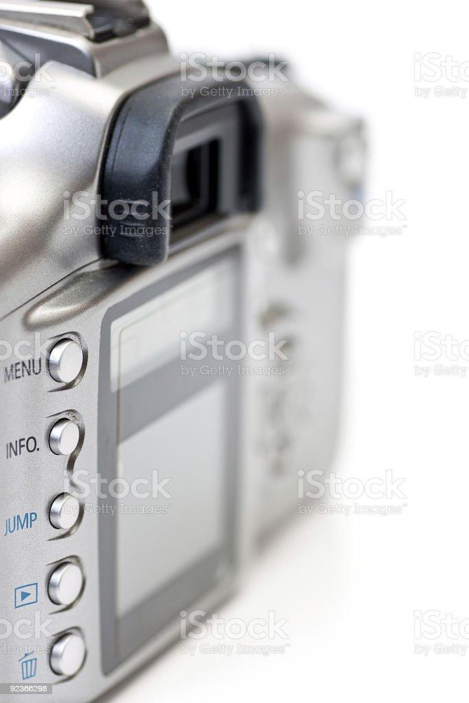 Back of digital SLR royalty-free stock photo