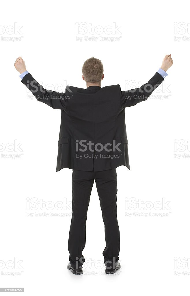 back of happy businessman royalty-free stock photo