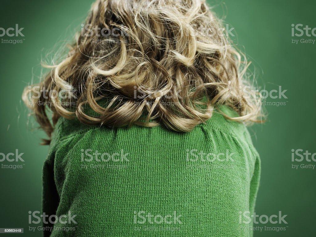 Arrière de la tête de 3 ans et fille. photo libre de droits