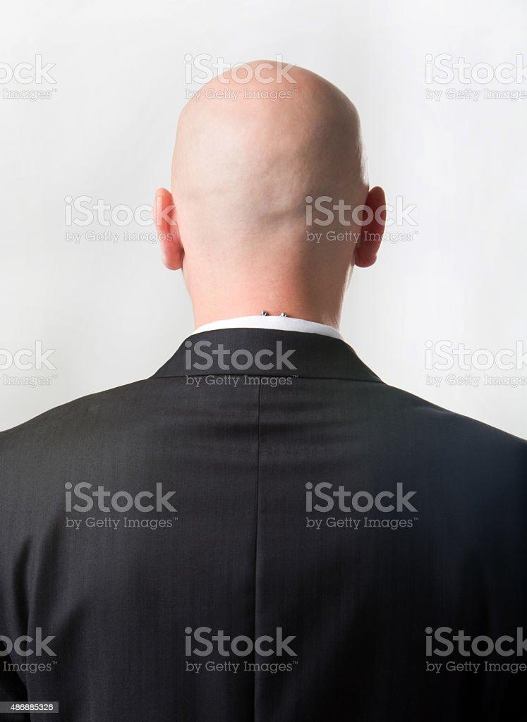 Back of man stock photo