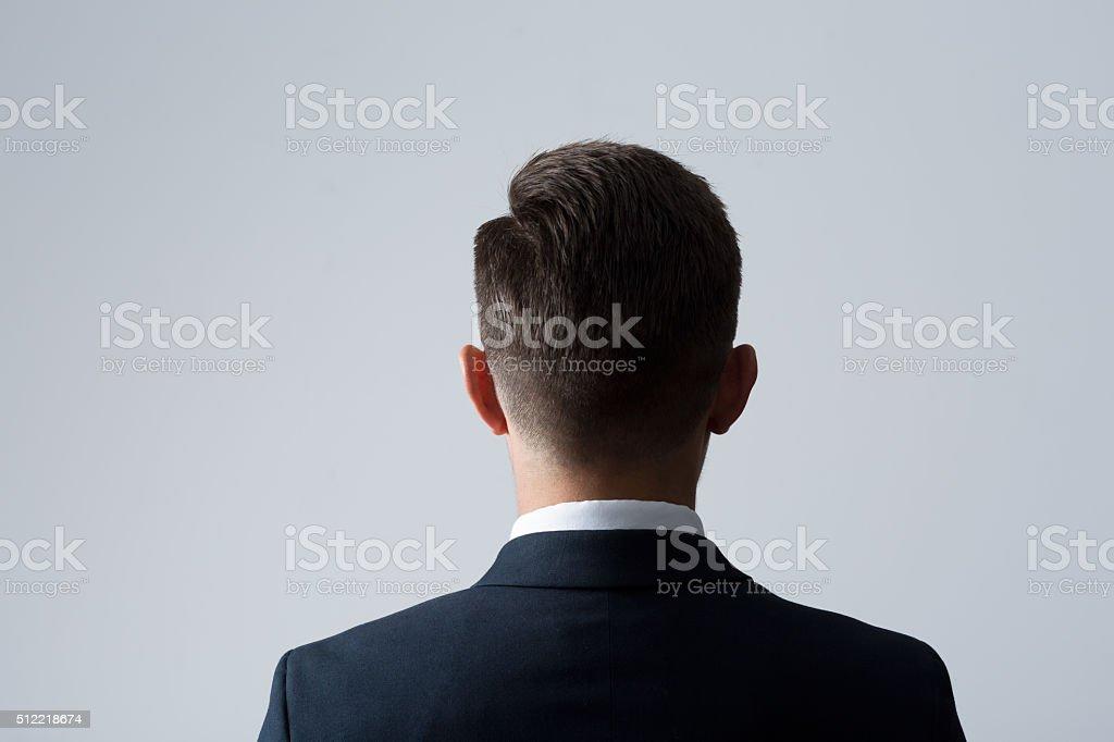Back of man's head stock photo