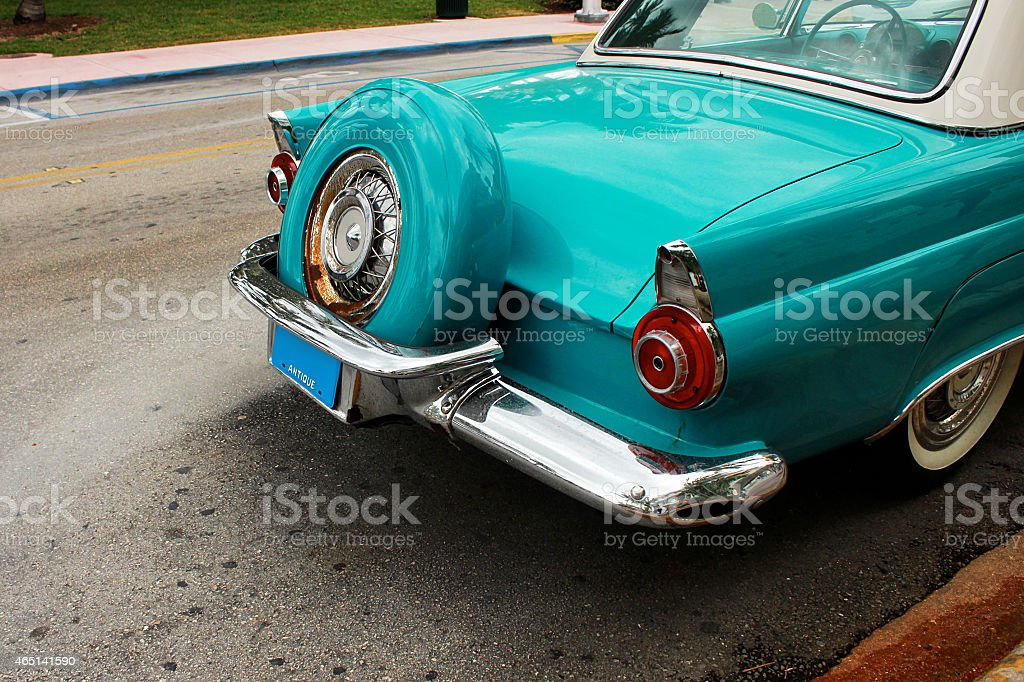 Back of retro car stock photo