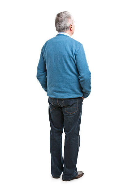 back of senior man - back stock pictures, royalty-free photos & images