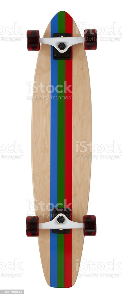 Back of Skateboard on White stock photo
