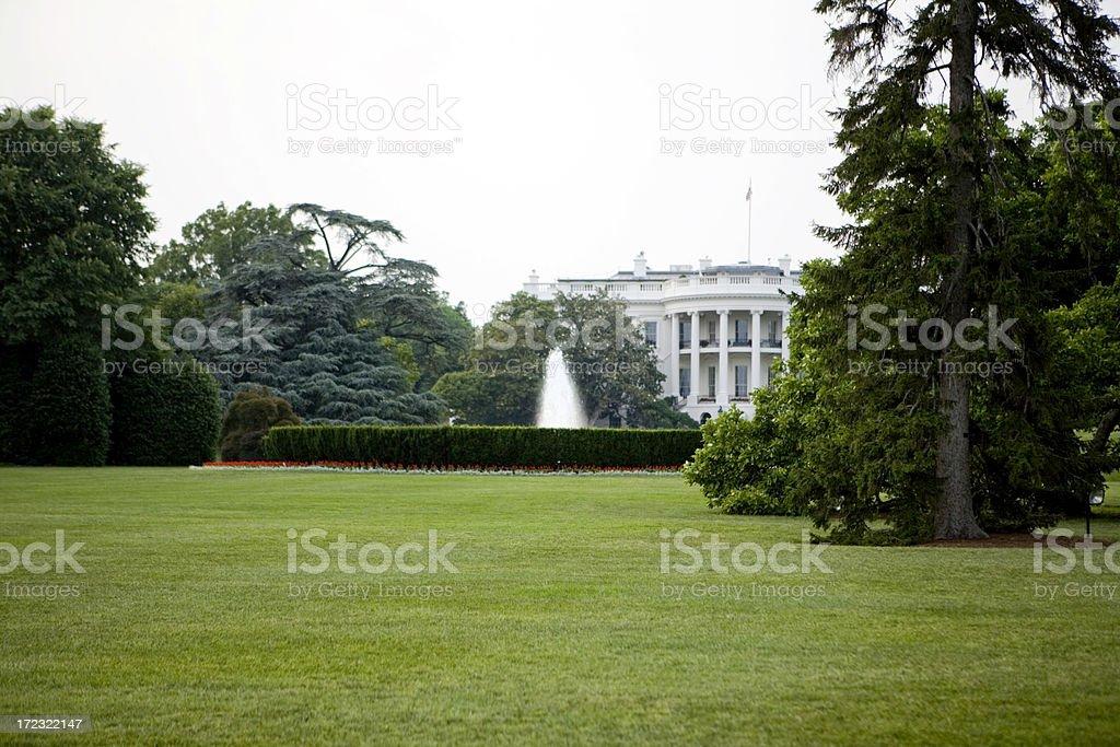 Back Of The Whitehouse royalty-free stock photo