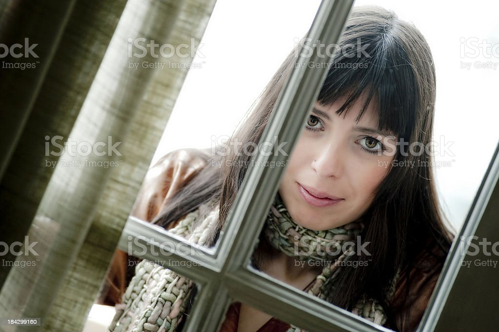 Back of the window. royalty-free stock photo