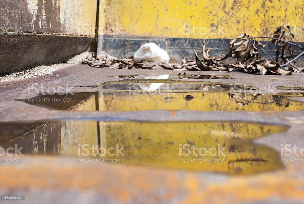 back of the yellow sand truck royalty-free stock photo
