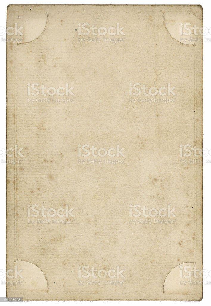 Viktorianischen photoframe Rückseite Lizenzfreies stock-foto