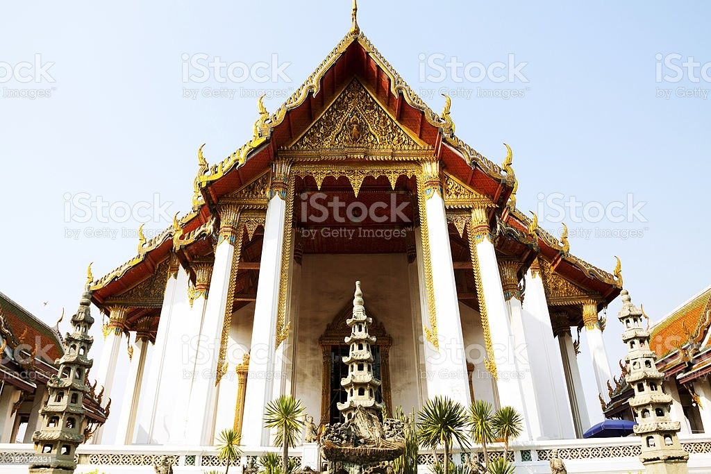 Back of Wat Suthat royalty-free stock photo