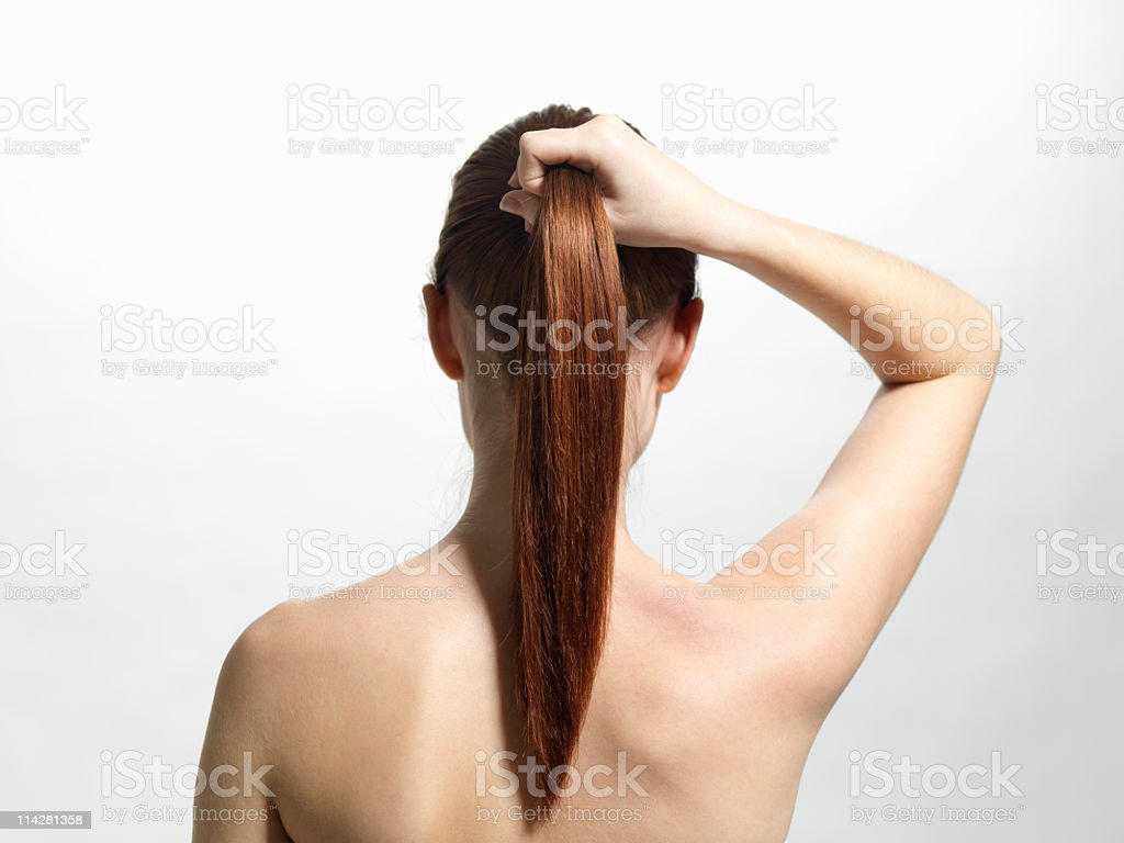 Back of woman royalty-free stock photo