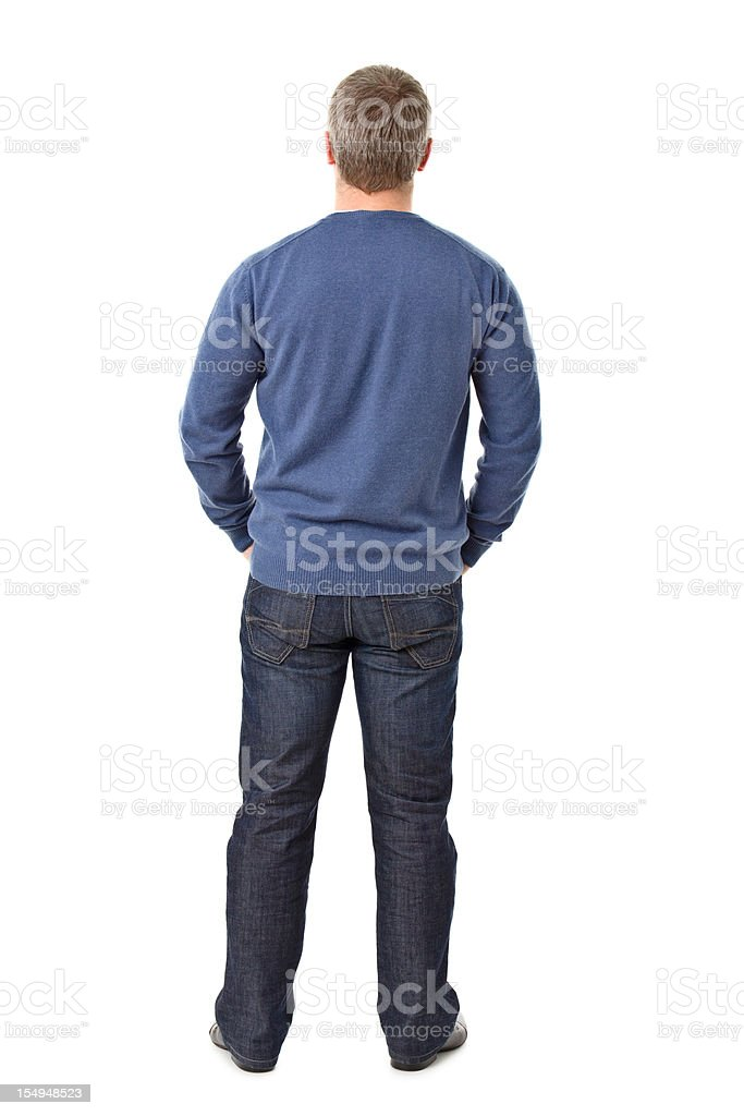 back of young adult royalty-free stock photo