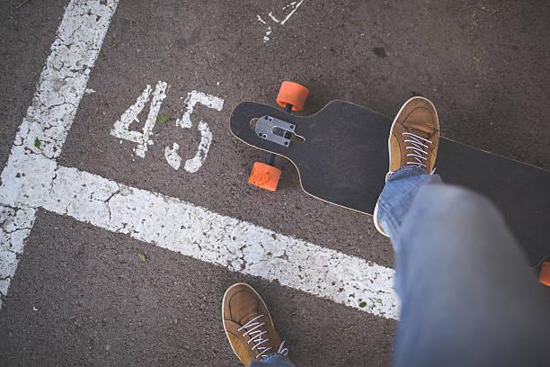 Back on the asphalt stock photo