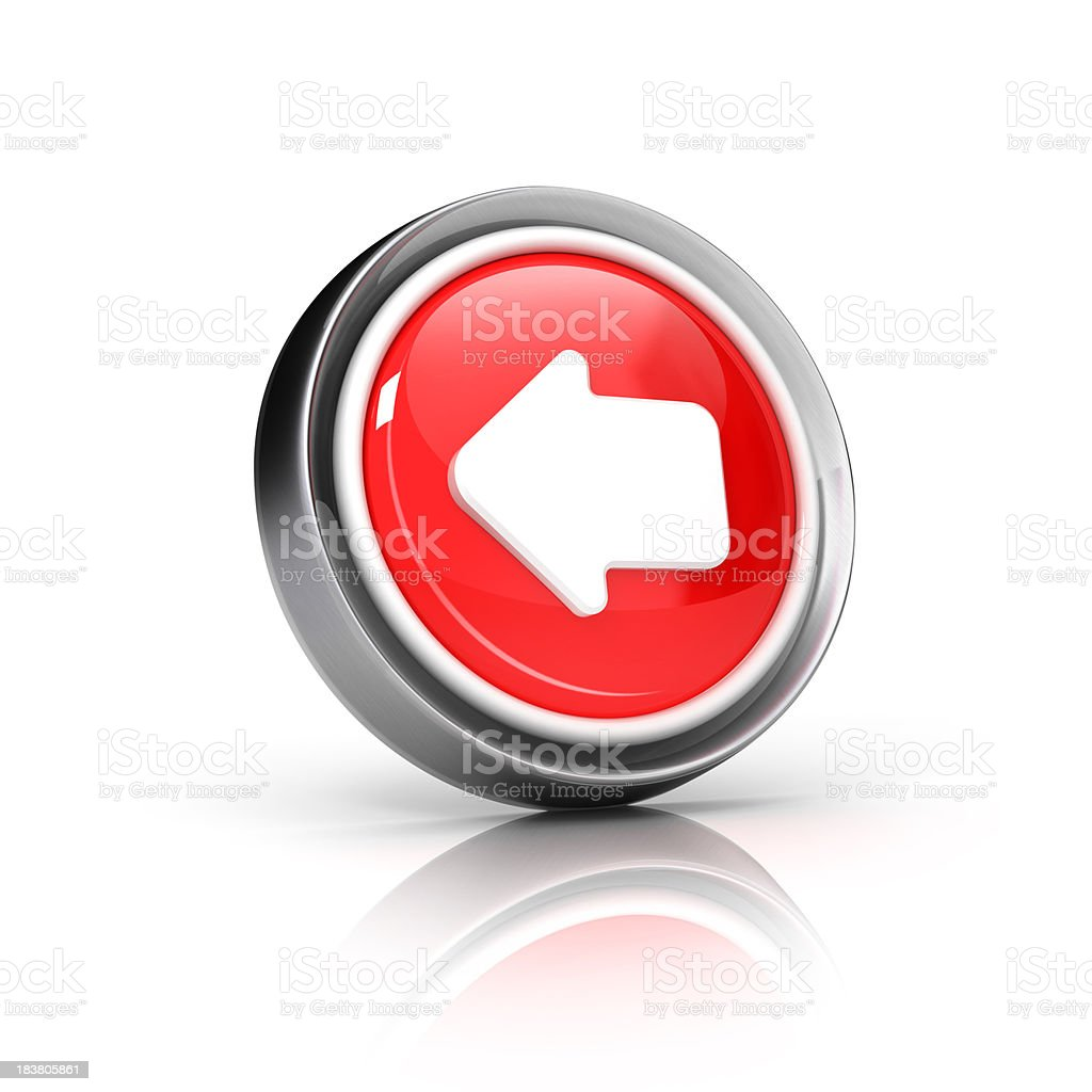 back or left arrow icon stock photo