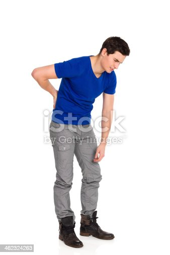 istock Back pain. Backache. 462324263