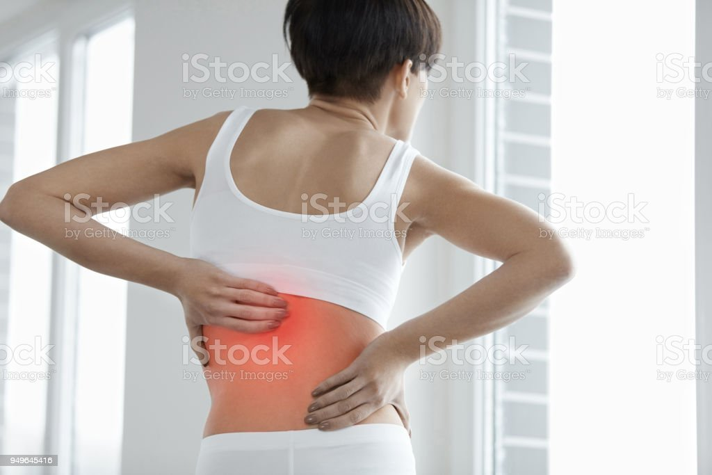 Back Pain Closeup Of Woman Body With Pain In Back Backache Stock Photo Download Image Now Istock