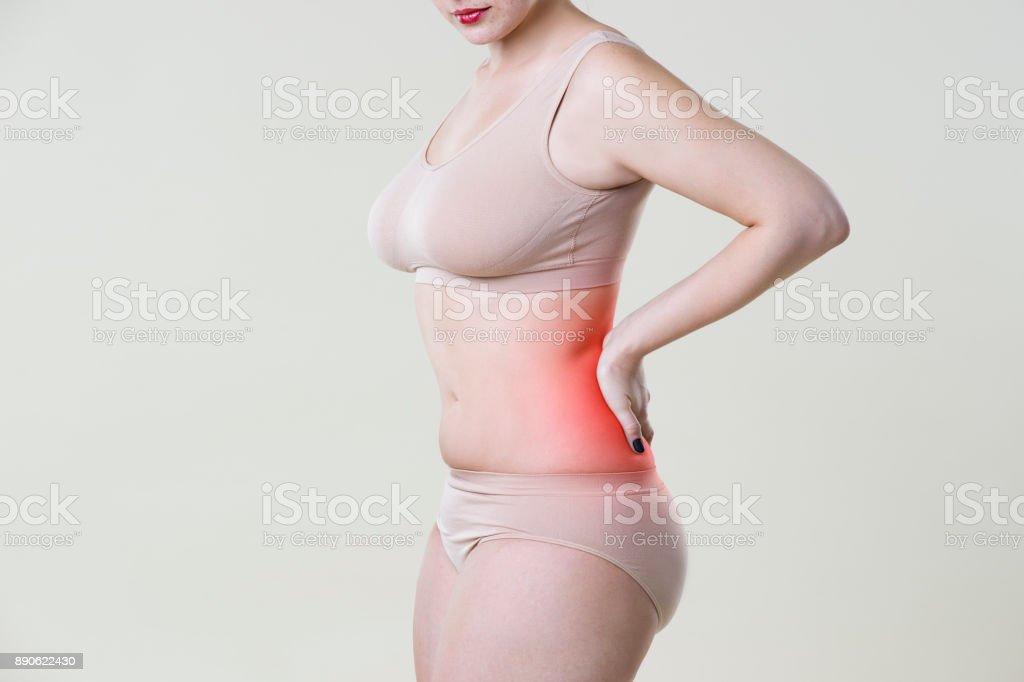 Fotografía de Dolor De Espalda Inflamación Del Riñón Dolor En El ...