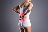 istock Back pain, kidney inflammation, ache in woman's body 931369508