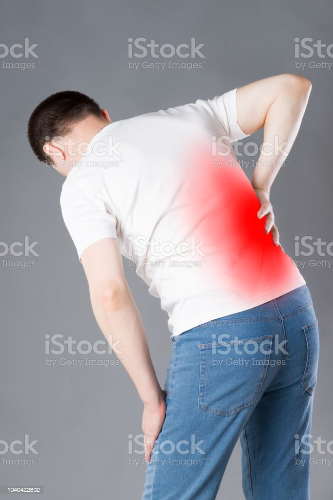Back Pain Kidney Inflammation Man Suffering From Backache Stock Photo Download Image Now Istock
