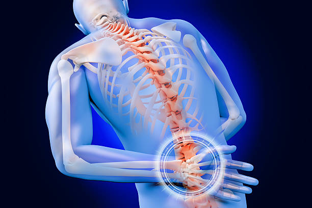 douleurs dorsales - sternum photos et images de collection