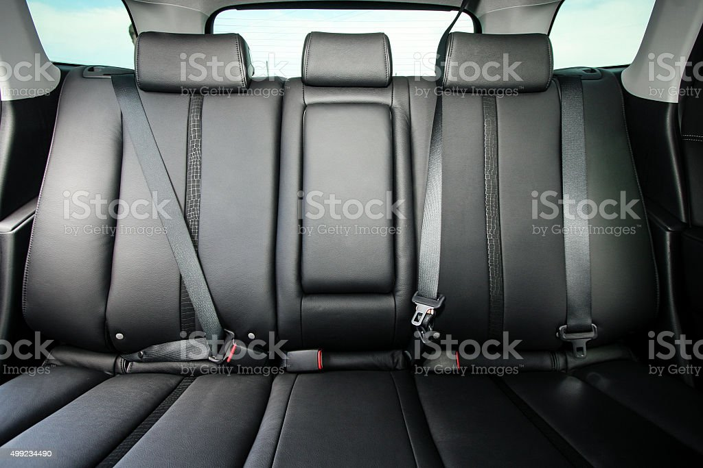 Back passenger seats in modern comfortable car stock photo