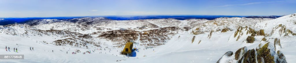 SM Back Perisher Mt 2 Valley Pan stock photo