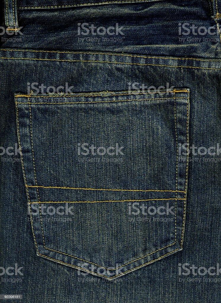 Back Pocket - Grungy Blue Denim royalty-free stock photo
