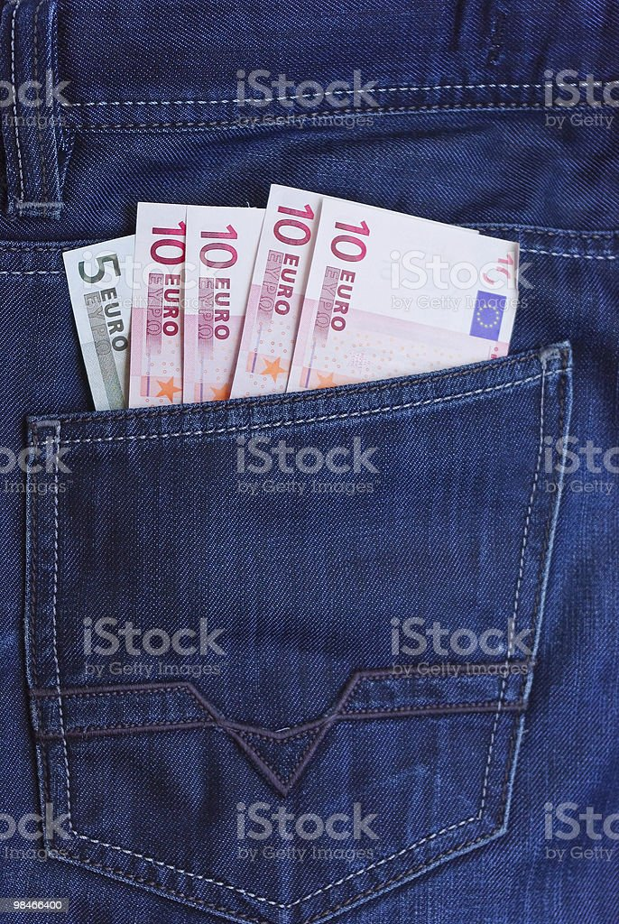 Back pocket royalty-free stock photo