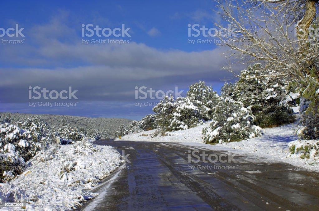 Back Road on Sandia Mountain stock photo
