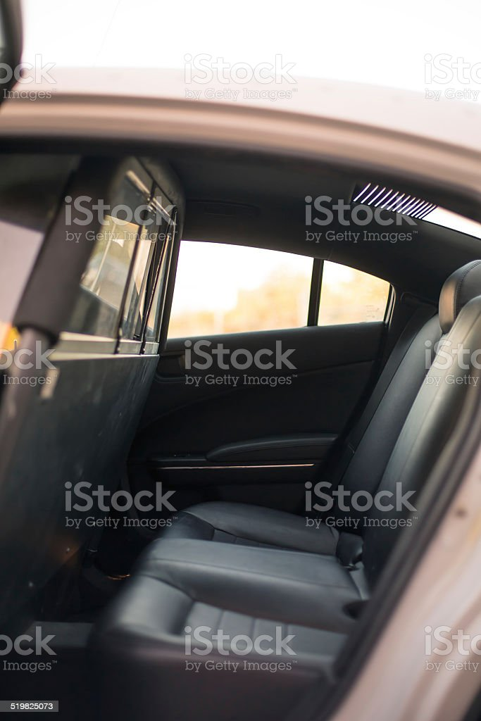 Back Seat Of Police Car Royalty Free Stock Photo