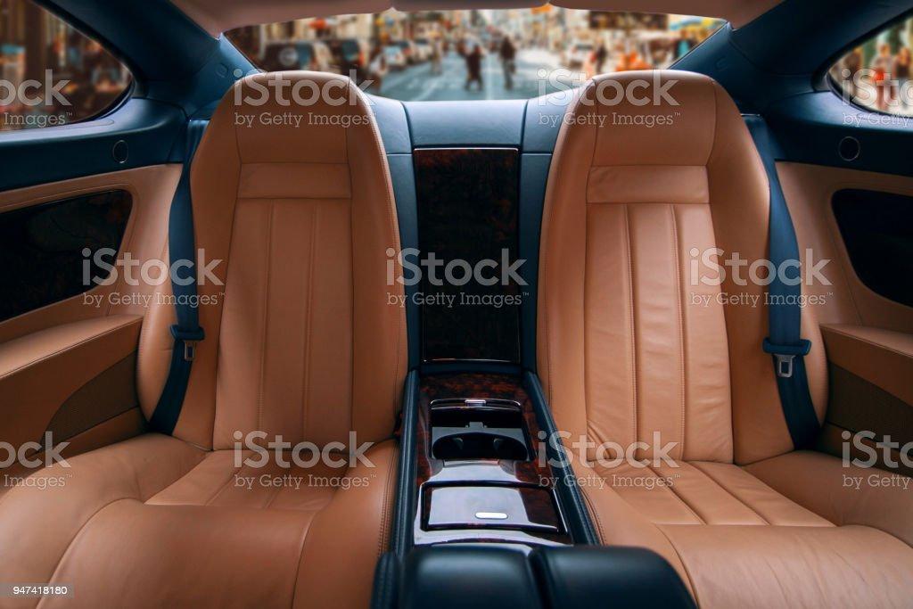 Rücksitze von Luxuswagen – Foto