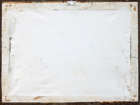 Grunge paper on a wooden frame