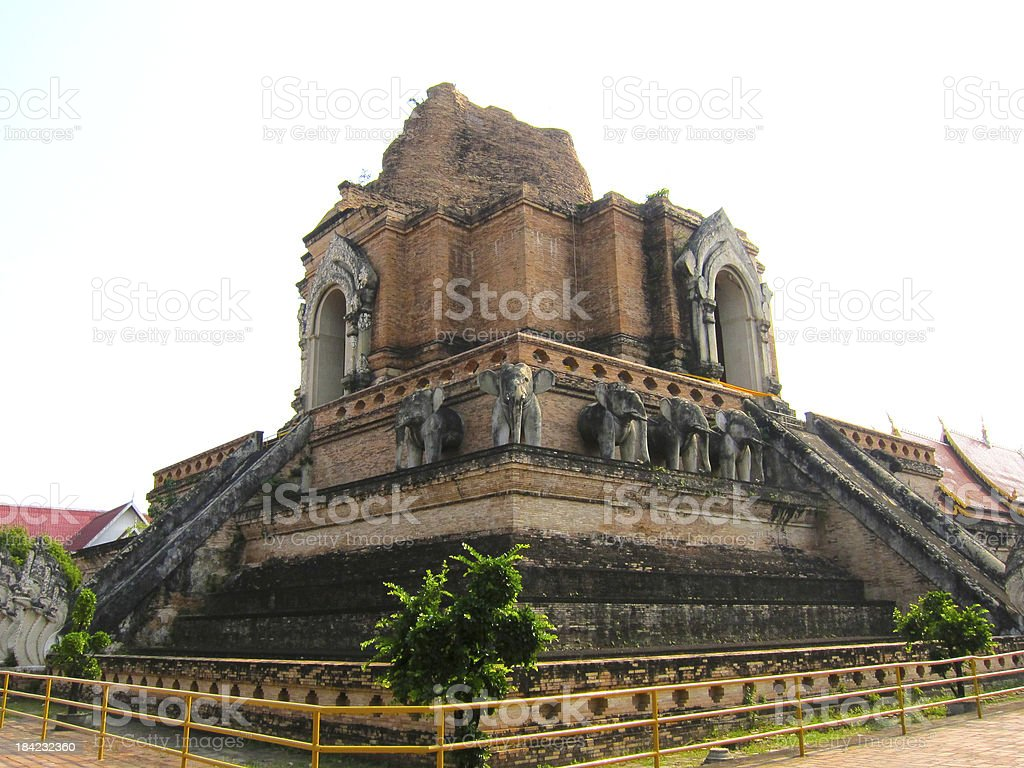 Back Side of Chiangmai Stone Temple royalty-free stock photo