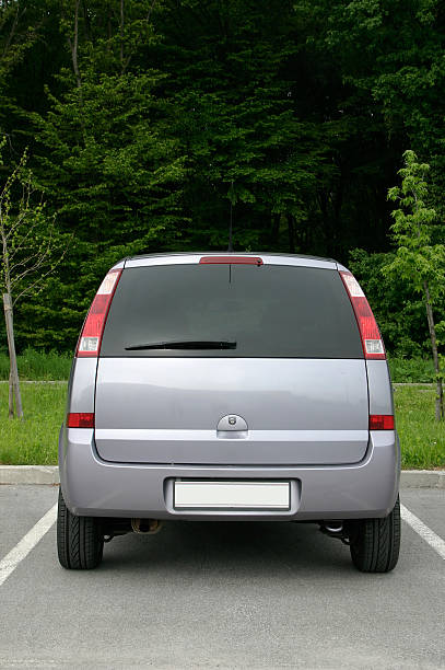 back side of small van - back stock pictures, royalty-free photos & images