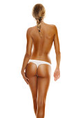 istock Back side view of a young, blonde woman's perfect body 175500909