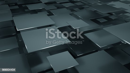 istock Back squares abstract 3D illustration 956504434