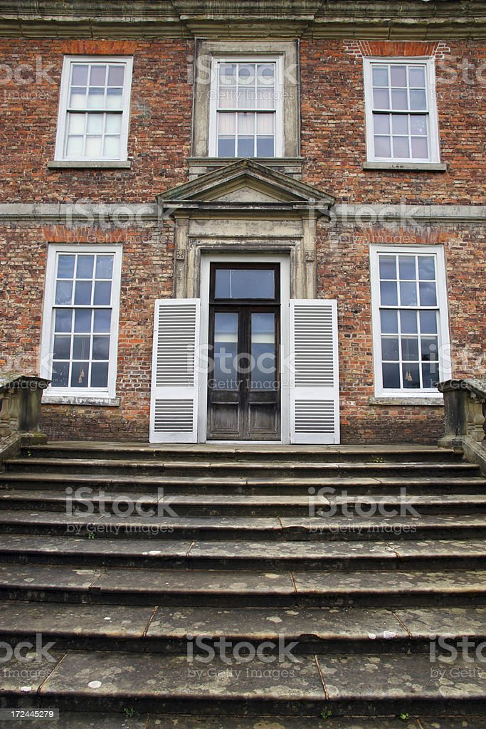 Back Stair stock photo