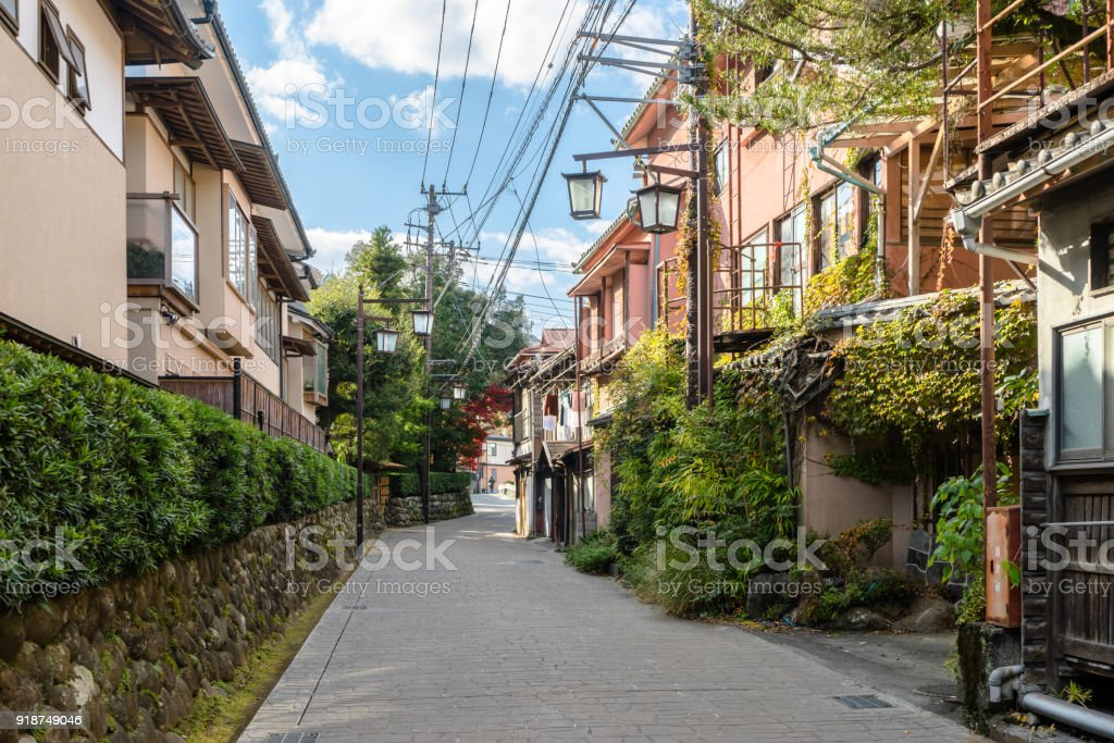 Back street of Shuzenji stock photo