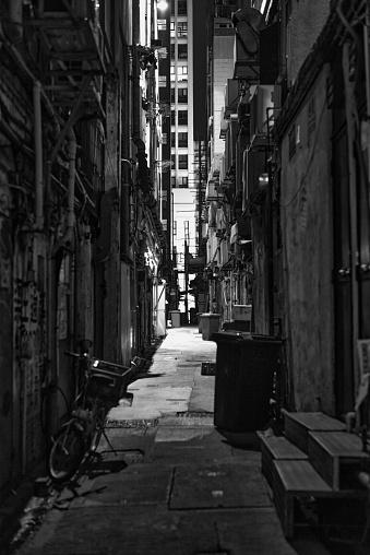 back street at Hong Kong