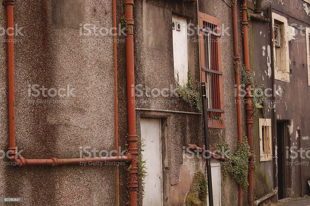 Back Street Wall royalty-free stock photo