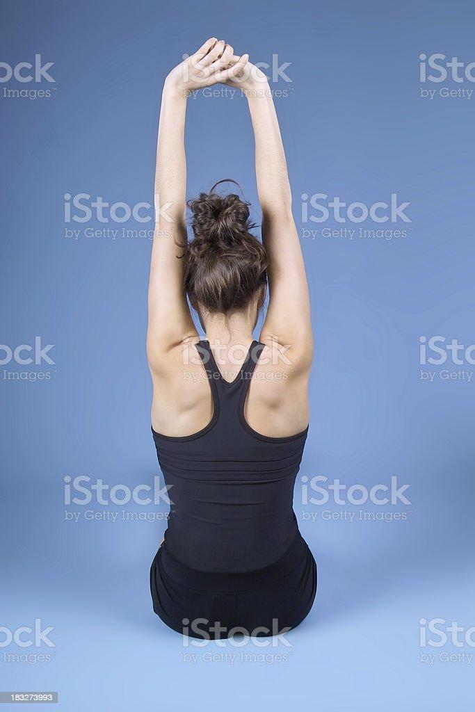 Back Stretch stock photo