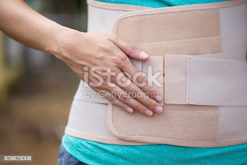 istock Back support for muscle back, close up 626629008