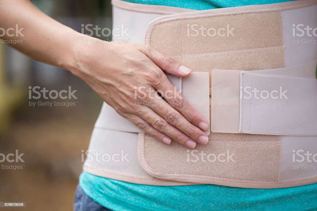 Back support for muscle back, close up stock photo