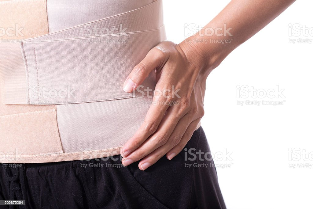 Back support for muscle back on white background stock photo