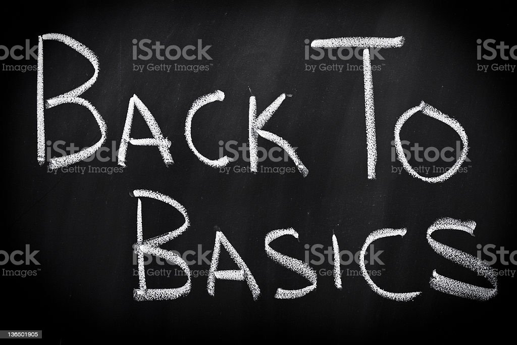 Back to basics stock photo