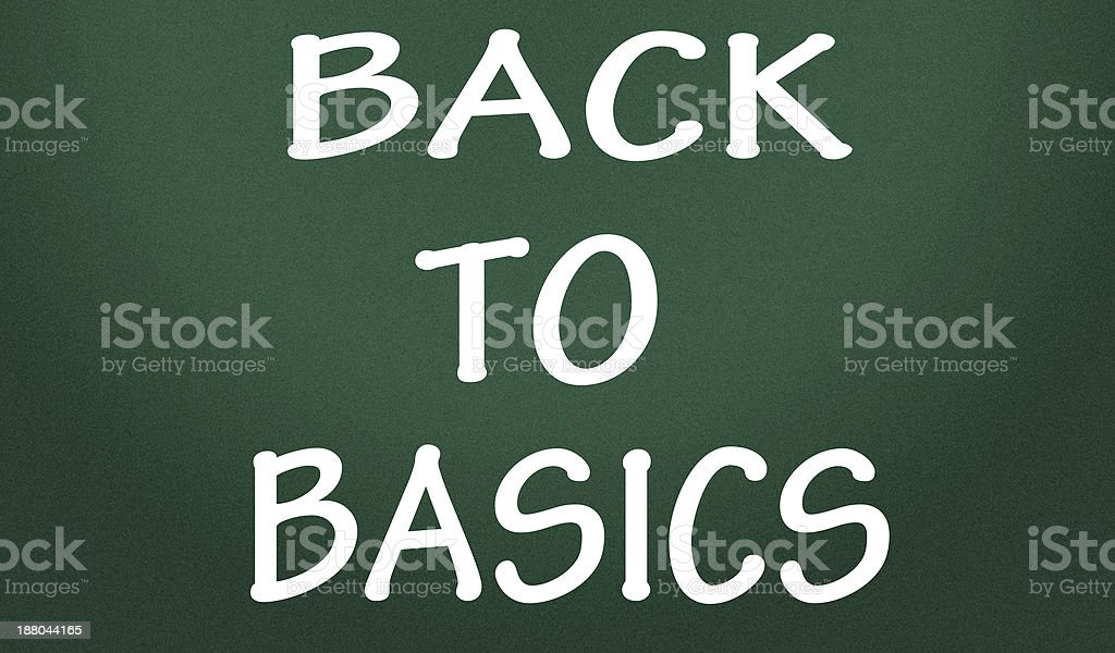 back to basics symbol stock photo