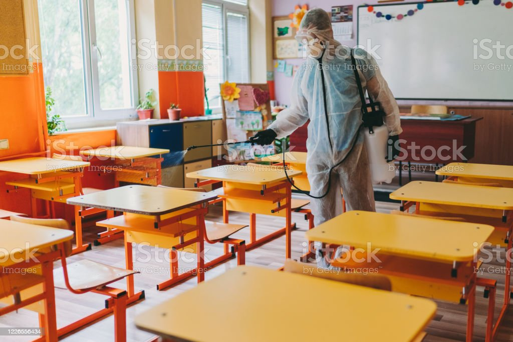 Back to school after Covid-19 - Foto stock royalty-free di Adulto