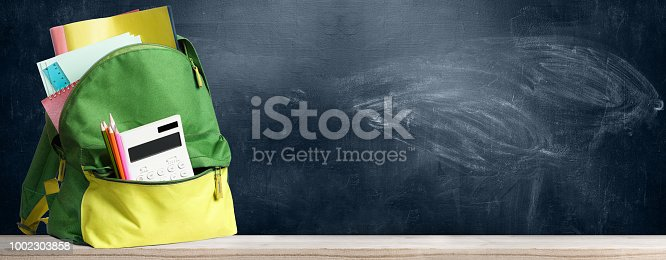 istock Back to school backpack. 1002303858
