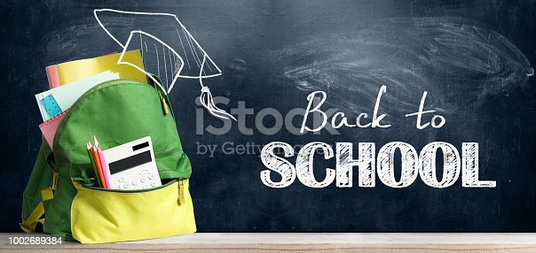istock Back to school backpack. 1002689384